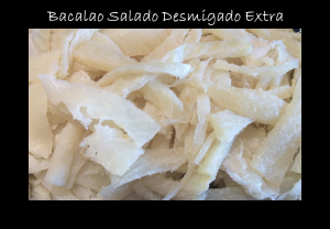 Bacalao Salado Desmigado. Peix i Marisc Les Salines