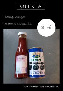 Ketchup - Aceitunas. Peix i Marisc Les Salines